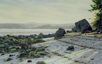 QuadraClayton Anderson, Clayton Anderson Art, J Clayton Anderson, J Clayton Anderson Art, Artist, West Coast Artist, West Coast, West Coast Art, Canadian Art, Canadian Artist, Landscape Artist, Canadian Landscape Artist, Acrylic, Acrylic Painting, Shoreline, Beach, Quadra, Quadra Island