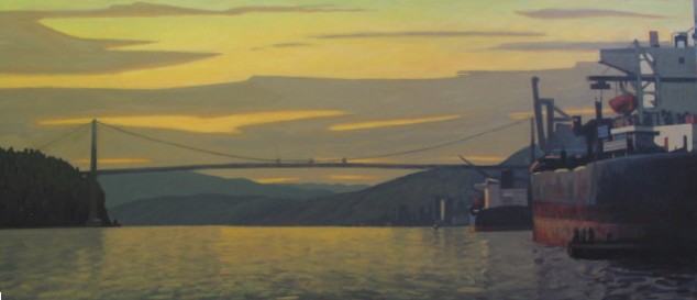Clayton Anderson, Clayton Anderson Art, J Clayton Anderson, J Clayton Anderson Art, Artist, West Coast Artist, West Coast, West Coast Art, Canadian Art, Canadian Artist, Landscape Artist, Canadian Landscape Artist, Acrylic, Acrylic Painting, First Narrows, Lions Gate, Lions Gate Bridge
