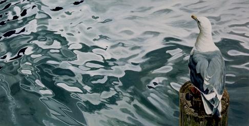 Clayton Anderson, Clayton Anderson Art, J Clayton Anderson, J Clayton Anderson Art, Artist, West Coast Artist, West Coast, West Coast Art, Canadian Art, Canadian Artist, Landscape Artist, Canadian Landscape Artist, Acrylic, Acrylic Painting, Shoreline, Sea Gulls,