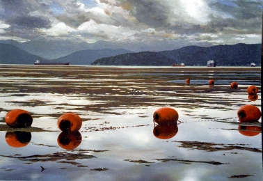 Clayton Anderson, Clayton Anderson Art, J Clayton Anderson, J Clayton Anderson Art, Artist, West Coast Artist, West Coast, West Coast Art, Canadian Art, Canadian Artist, Landscape Artist, Canadian Landscape Artist, Acrylic, Acrylic Painting, Seascape, Seascape Painting, Point Grey, Spanish Banks