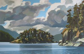 Clayton Anderson, Clayton Anderson Art, J Clayton Anderson, J Clayton Anderson Art, Artist, West Coast Artist, West Coast, West Coast Art, Canadian Art, Canadian Artist, Landscape Artist, Canadian Landscape Artist, Acrylic, Acrylic Painting, Shoreline, Okasollo, Okasollo Channel