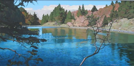 Clayton Anderson, Clayton Anderson Art, J Clayton Anderson, J Clayton Anderson Art, Artist, West Coast Artist, West Coast, West Coast Art, Canadian Art, Canadian Artist, Landscape Artist, Canadian Landscape Artist, Acrylic, Acrylic Painting, Shoreline, Quadra, Quadra Island, Slough