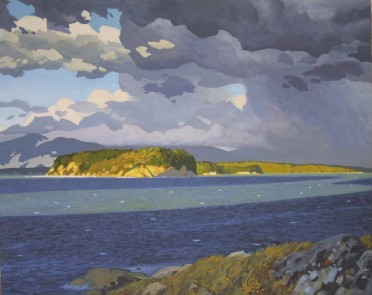 Clayton Anderson, Clayton Anderson Art, J Clayton Anderson, J Clayton Anderson Art, Artist, West Coast Artist, West Coast, West Coast Art, Canadian Art, Canadian Artist, Landscape Artist, Canadian Landscape Artist, Acrylic, Acrylic Painting, Shoreline, Sea Gulls, Savary, Savary Island,