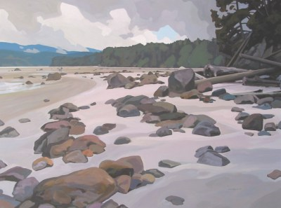 Clayton Anderson, Clayton Anderson Art, J Clayton Anderson, J Clayton Anderson Art, Artist, West Coast Artist, West Coast, West Coast Art, Canadian Art, Canadian Artist, Landscape Artist, Canadian Landscape Artist, Acrylic, Acrylic Painting, Shoreline, Sea Gulls, Savary, Savary Island, Indian Point