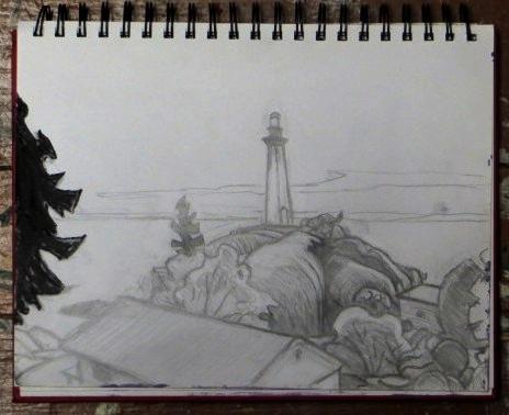 Lighthouse Park sketch