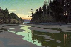 Dusk in Summer Run Cove