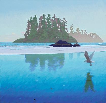 Dusk at Pacific Rim (triptych) $12 500