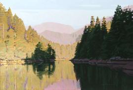Morning Sun Nootka Sound 24x36 $5000