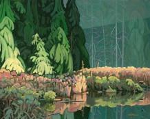 Beaver Pond (diptych) 24x60 $9000