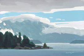 Keats Island 8x12 $1450