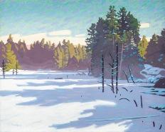 Winter Freeze 24x30 acrylic on canvas