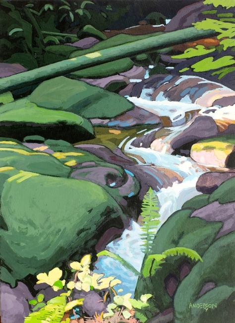 Mountain Stream 16x12 $1700